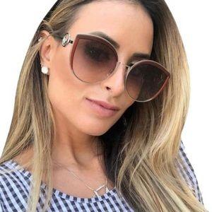✨HP✨New FENDI Black Metal Butterfly Sunglasses